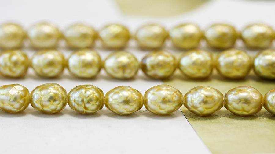 020-1026 Freshwater Pearl Faceted 7.5-8mm Faceted Rice