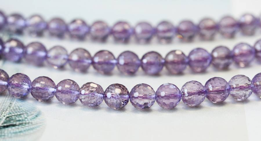 134-2338 Pink Amethyst 8mm Faceted Round