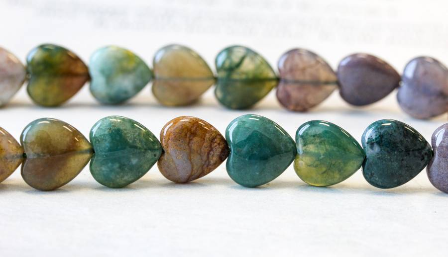 161-0414 Fancy Jasper 12mm Heart