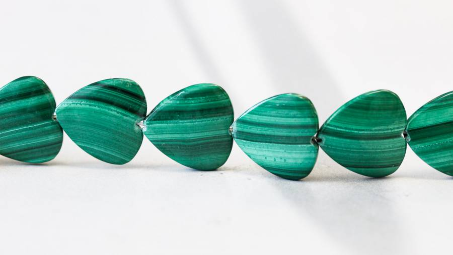 178-1222 Malachite 18mm Heart