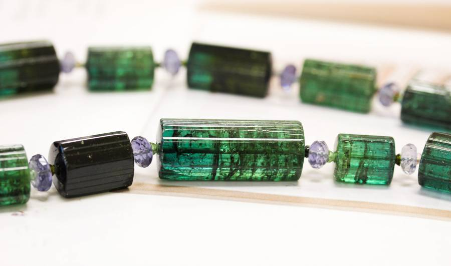 L2698-001C Green Tourmaline 12-14x Rough Tube