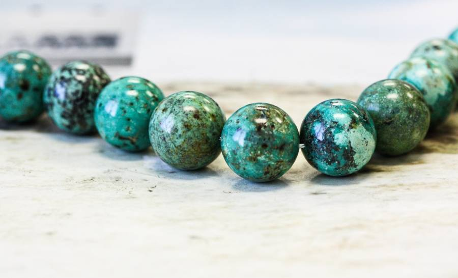 132-1009 African Turquoise 20mm Round