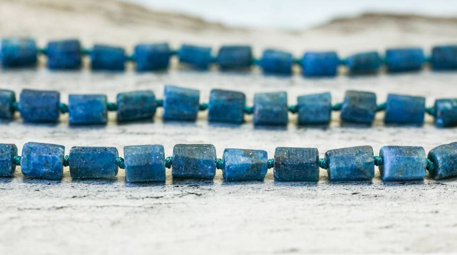 135-1552 Matte Blue Apatite 6-7x 6-side Tube