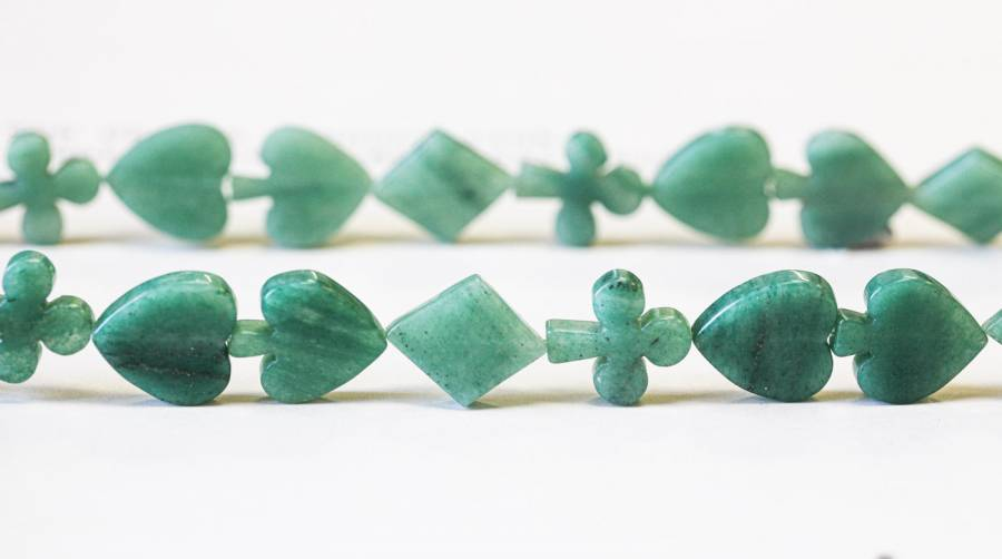 138-1276 Aventurine 16-17mm Poker Suits