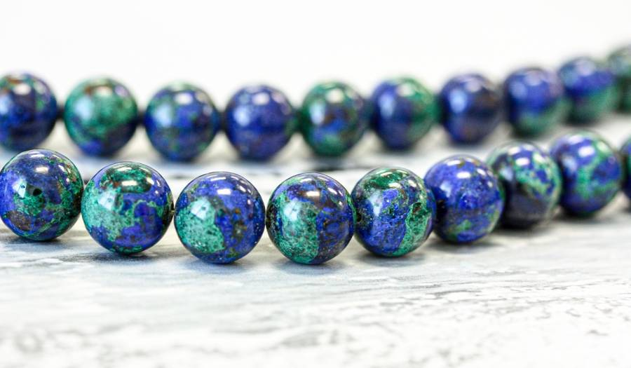 139-1157 Azurite Malachite 12mm Round