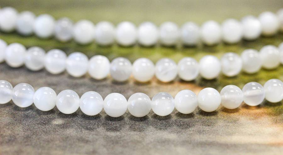 179-1670 Gray Moonstone 6mm Round