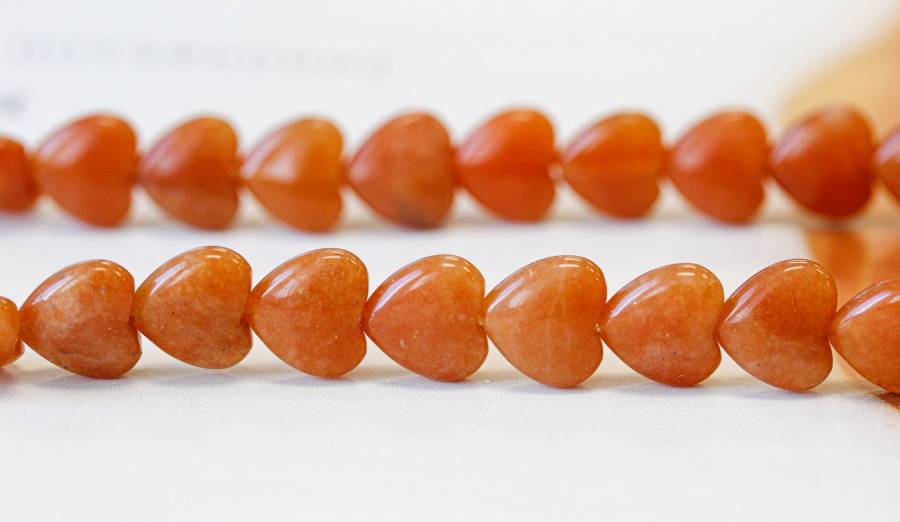 191-0414 Red Aventurine 12mm Heart