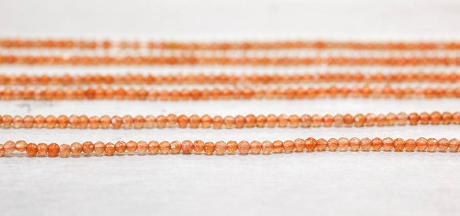 191-1212 Red Aventurine 2mm Faceted Round