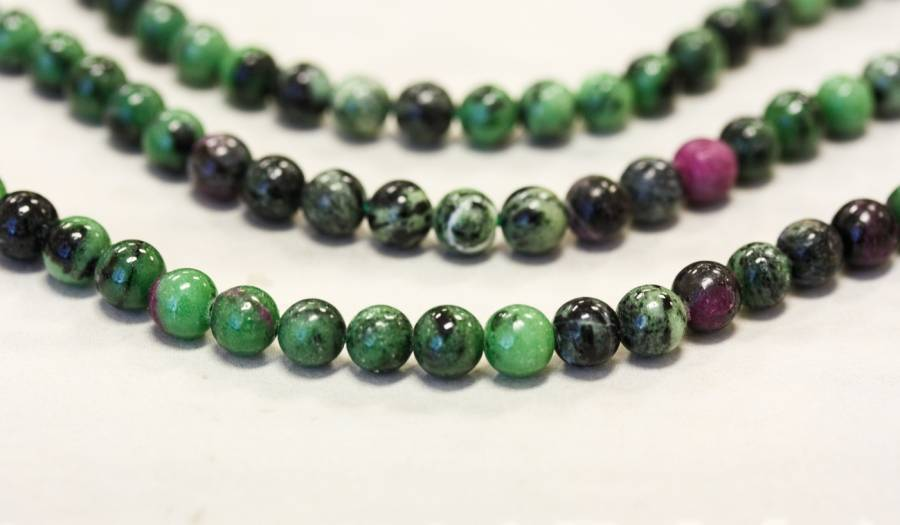 199-1100 Ruby Zoisite 6mm Round