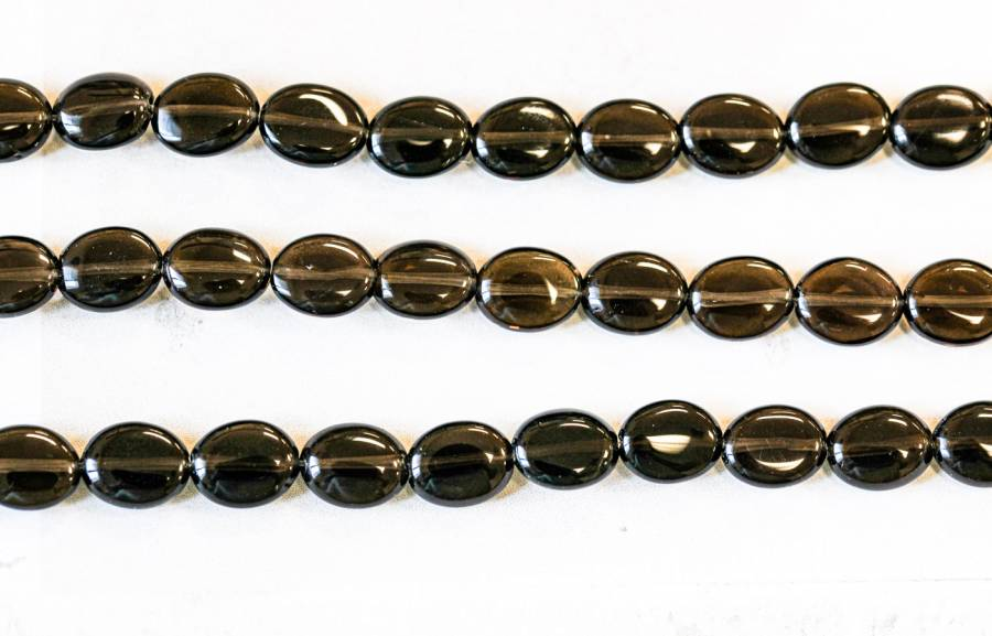 203-1915 Smoky Quartz 8x10 Flat Oval