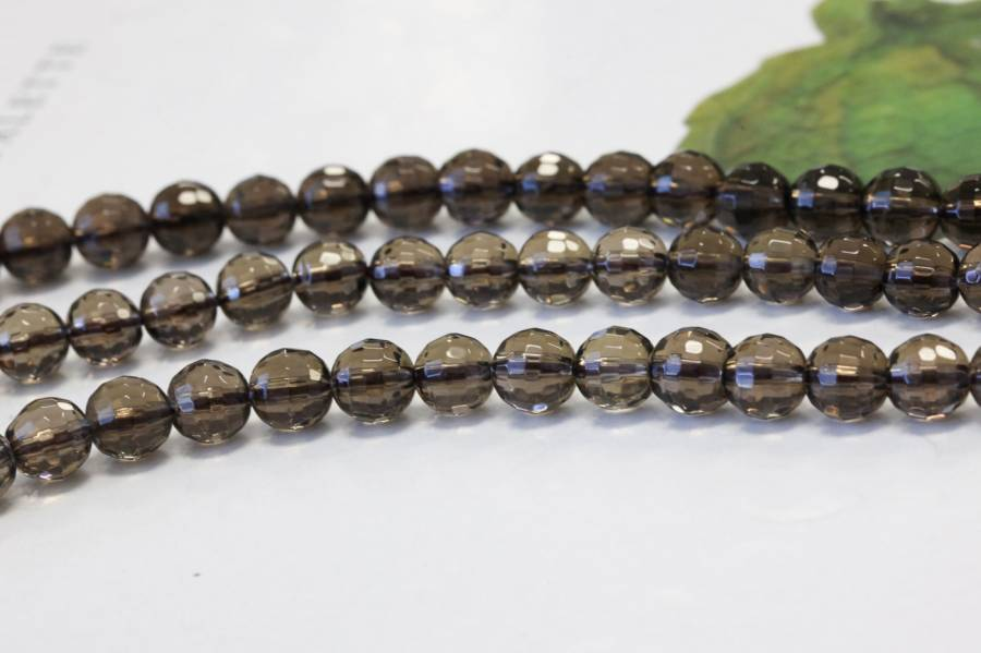 203-2026 Smoky Quartz 6mm Faceted Round