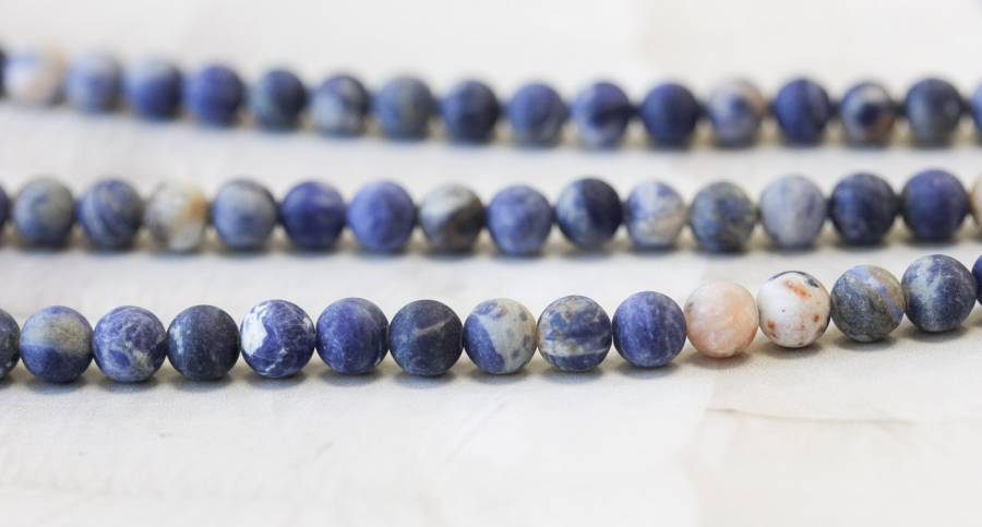 206-1294 Matte Orange Sodalite 6mm Round