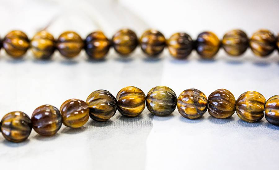 210-1392 Tiger Eye 8mm Corrugated Round