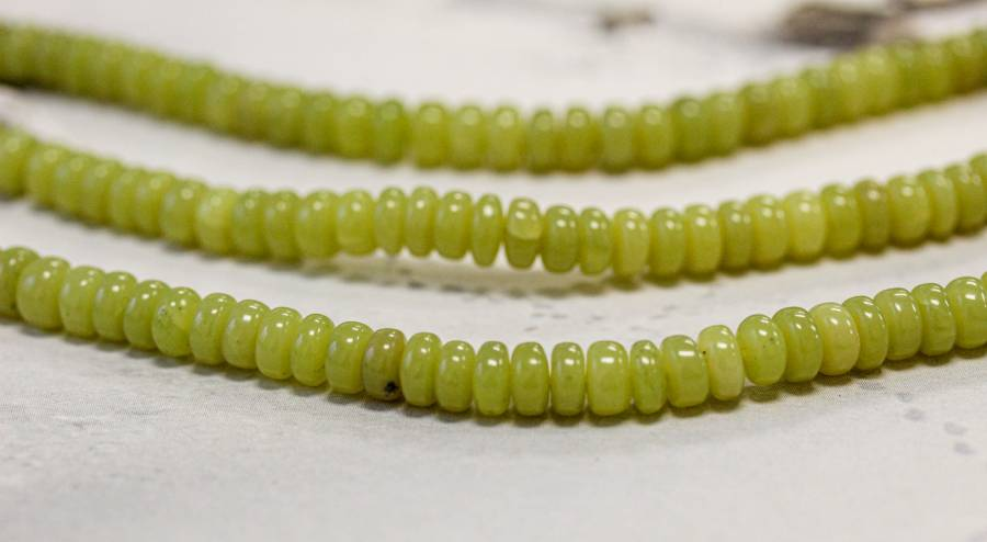 264-1261 Olive Jade 6mm Rondell