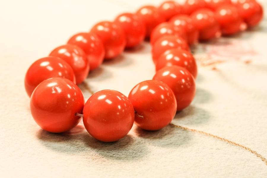 519-1266 Dyed Coral 16-28mm Round